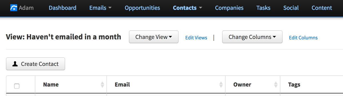 VipeCloud Contact View