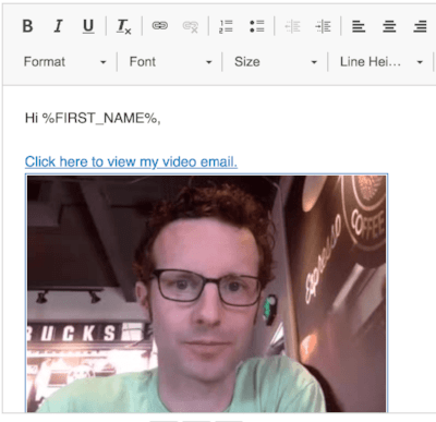 Auto-Loaded Video Email Copy