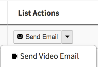 Send Contact List Video Email
