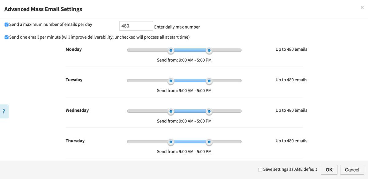 VipeCloud Advanced Mass Email Screenshot