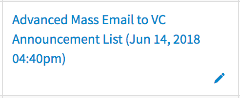 Edit Contact List Name on Mass Email Page