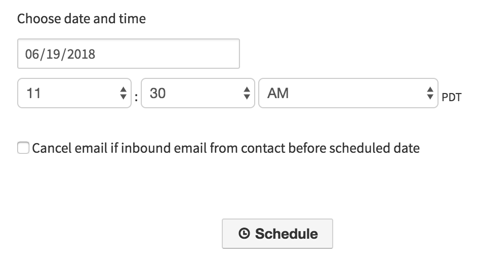 Schedule Emails - Cancel If Inbound Before Launch Date