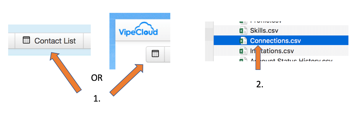 Import LinkedIn Contacts Into VipeCloud