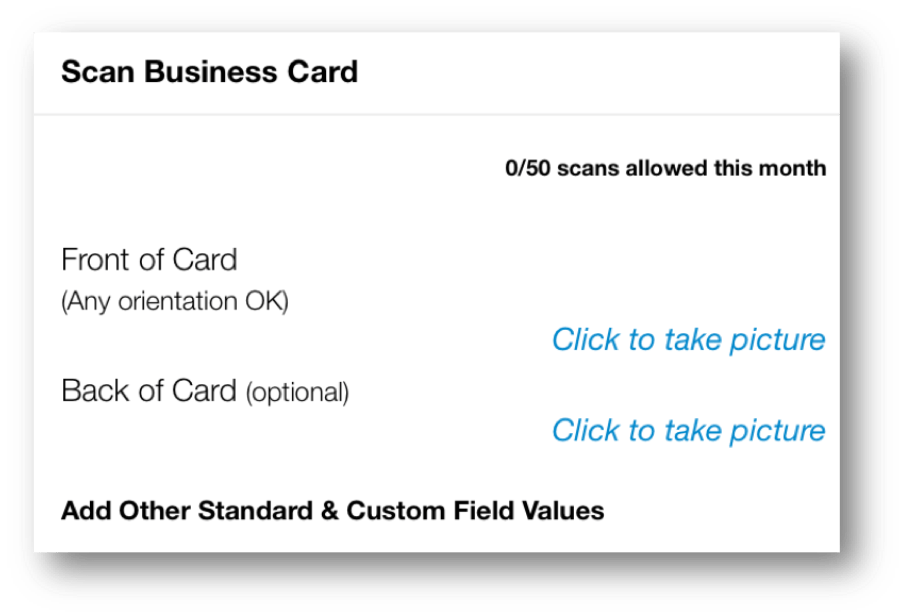 Add Tags and Custom Fields to Business Card Contact